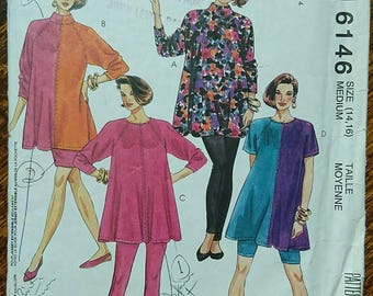 Vintage 1990's Easy McCall's Trio And Baby Makes Three Maternity Dressmaking Paper Pattern BoutiqueByDanielle