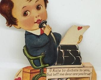 Vintage German Big Head Mechanical Valentine