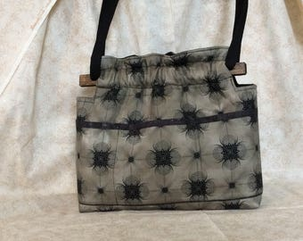 Conceal Carry CCW brown swirl handbag purse shoulder or cross body