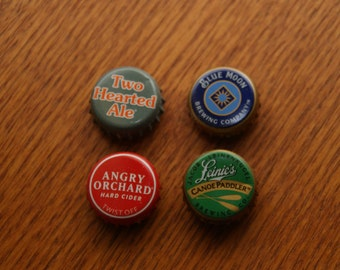 Mancave Bar Pop & Beer Bottle Cap Magnets