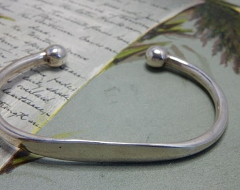 Sterling Silver 925 Taxco Mexico Cuff Bracelet    NCG30