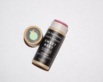 SWEET BEET lip tint | Color for the Lip + Cheek | Beet Root | All-natural | Vegan | Grapefruit and Peppermint