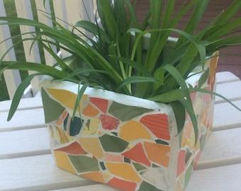 Summer Citrus Mosaic Planter