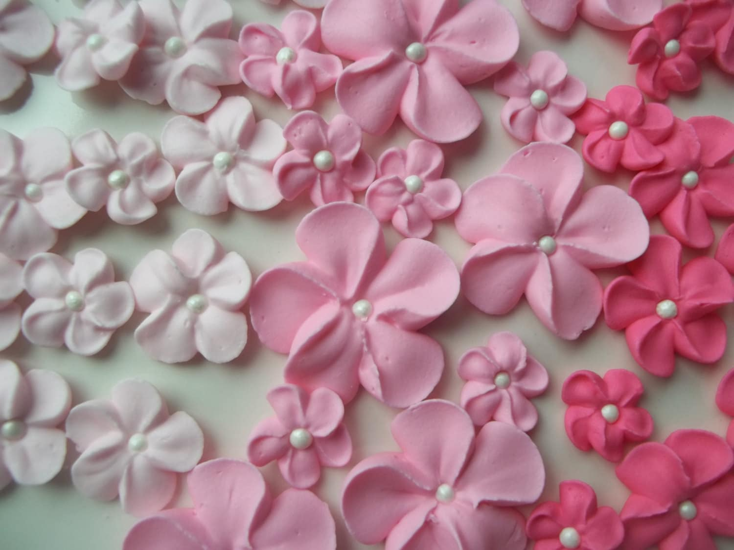 Shades of pink ombre flowers Made to Order Edible cake