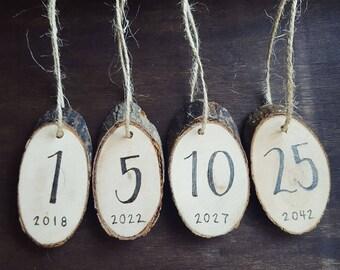 Wood-burned Tags | Table Numbers | Favor Tags