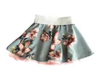Blooming Flowers Circle Skirt