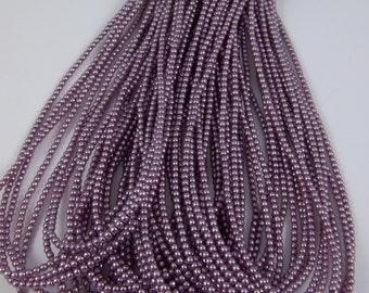 3mm Czech Glass Pearl - 70428 Lilac x 300pcs