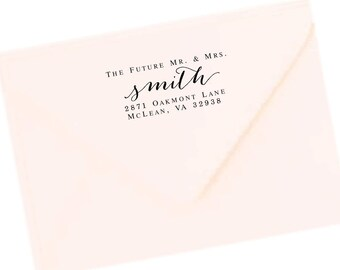 Return Address Labels, Transparent Return Address Stickers, Formal Address Stickers, Wedding Label Future Mr. Mrs. Mr & Mrs T141