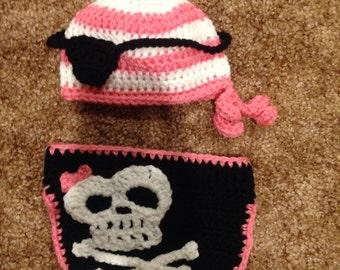 Crochet 0-3 mo pirate set
