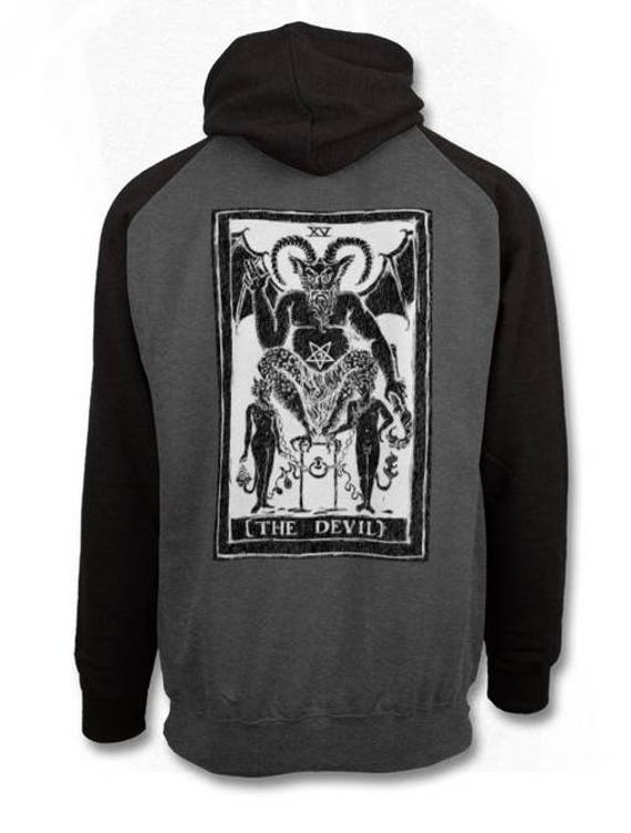 The Devil 2-tone Pull over Hoodie
