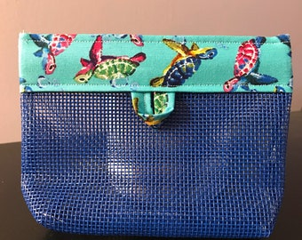Blue Sea Turtles Cosmetic Bag for Purse