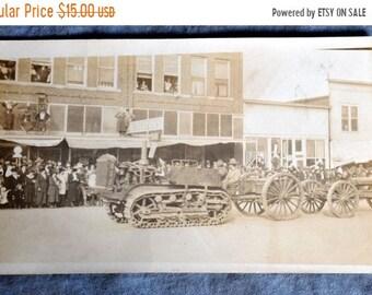 BTS World War I track equipment parade postcard