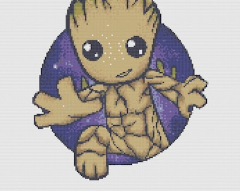 Baby Groot, Marvel cross-stitch Pattern
