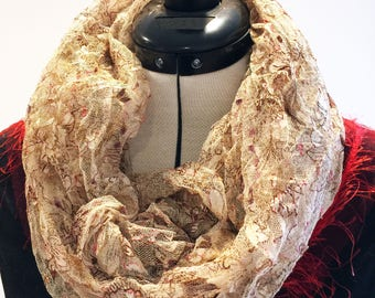 Infinity Scarf stretchy lace