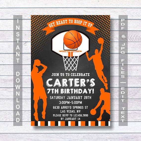basketball invitations basketball birthday invitation