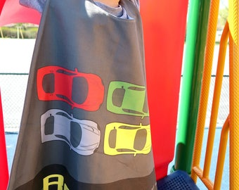 Cars Personalized Superhero Cape - Boys Birthday - Gift for Kids - Superhero party cape - Photo Prop - Toddler - Transportation - Pretend