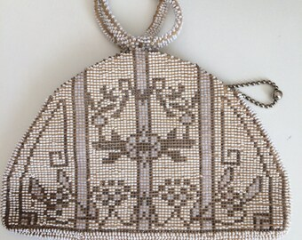 vintage beaded purse / evening bag