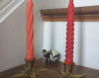 Brass Starburst Candlestick, Atomic Starburst, Brass Candlesticks, Star Candlesticks, Brass Candlestick, Mid Century Modern, Atomic, MCM
