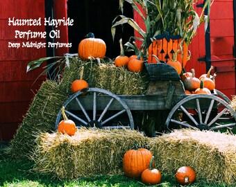 HAUNTED HAYRIDE Perfume Oil - Pumpkins, Roasted Marshmallows, Candy, Soft Hay, Frankincense - Gothic Perfume - Halloween Perfume,