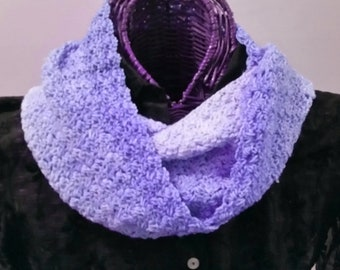 Lavender Tonals Hand-Dyed Infinity Scarf