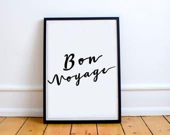 Bon Voyage // Wall Art // Prints // Minimalist // Gallery Wall // Script