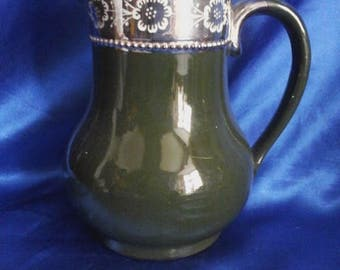 Victorian Green Water/Milk Jug/Pitcher