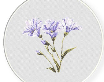 MORE for FREE - Purple Flower - Counted Cross stitch pattern PDF - Instant Download - Cross Stitch Pattern - Flowers-Love- Needlepoint #1432