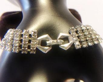 Multi Row Rhinestone Bracelet Vintage Fashion Jewelry Accessories For Her
