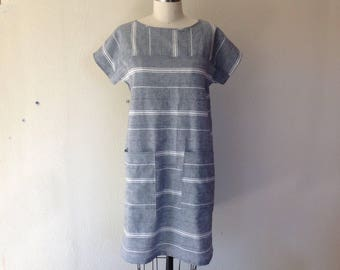 Sadie striped shift dress- Small