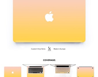 Macbook Skin Laptop Decal Macbook Decal Macbook Pro Macbook Air Skin Macbook Cover Ombre Gradient # Primrose Dogwood Ombre