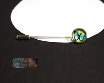 Cloth Needle, Scarf Needle, Cloth, Scarf, Brooch, Pin, Needle, silver,butterfly, 142