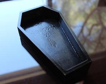 goth coffin tabletop tray