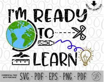 Back to school SVG, School SVG, Learning SVG, Education svg, school cutting files, kindergarten svg, svg files, svg