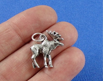 Moose Charm - Silver Plated Moose Charm for Necklace or Bracelet