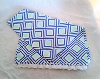 Tea Towel - Blue Geometrics