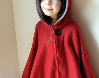 Poncho hooded cape carseat hood reversable hidden snaps