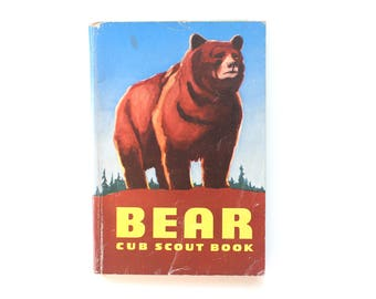 1959 Bear Cub Scout Book Full of Activities! Vintage Softcover Children's Book