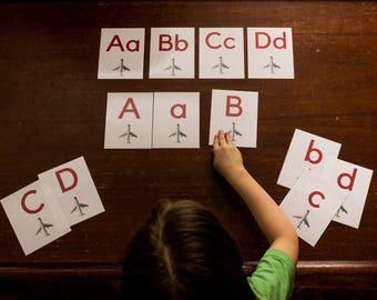Plane Alphabet Flashcards
