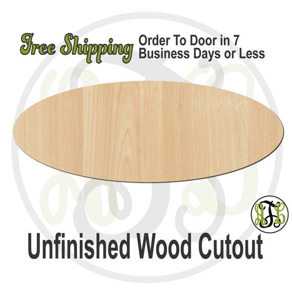 Ellipse - 40055- Shape Cutout, unfinished, wood cutout, wood craft, laser cut shape, wood cut out, DIY, Free Shipping