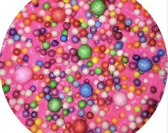"""BORAX-FREE SLIME! """"Funfetti Cupcake"""""""