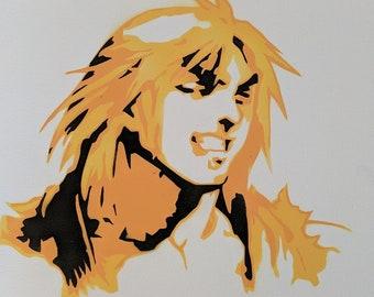 Ken Masters Street Fighter Spraypaint Stencil by Doudkine