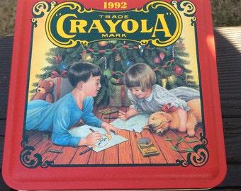 Crayola 1992 Christmas tin