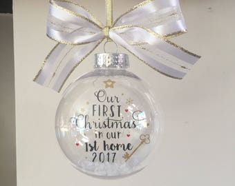 Our First Christmas in our 1st home 2018 Bauble, 1st Home Gift, New Home Gift, Christmas Bauble