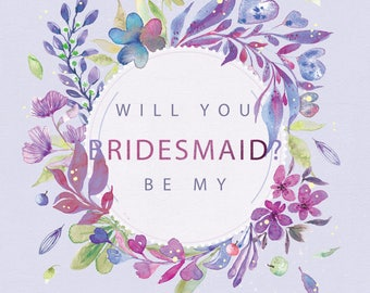 Will You Be My Bridesmaid Proposal