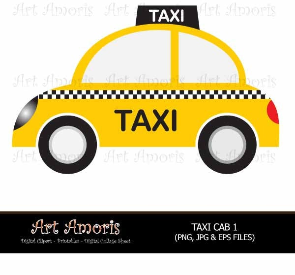 new york taxi cab cars yellow car vehicle clipart digital rh etsy com Car Mechanic Clip Art Full Car Clip Art Transparent