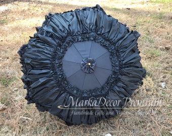 Large Wedding Parasol Bridal Umbrella with Multi Layers of Gorgeous Fabric 1pc
