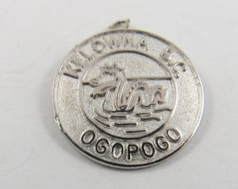 Ogopogo Kelowna British Columbia Canada Sterling Silver Charm or Pendant.