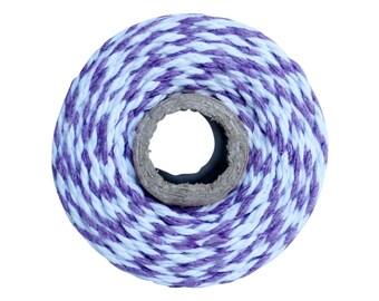 Thick 12 ply Purple Bakers Twine-Lavender 100 yard twine spool-Lavendar bakers twine-100% cotton Mason jar twine-Purple cotton bakers twine