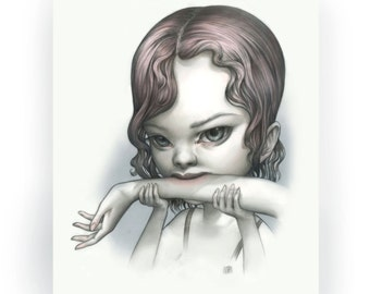 Tallulah Print - Just One Bite Vampire Girl - Limited Edition signed 8x10 Pop Surrealism Fine Art Print - by Mab Graves