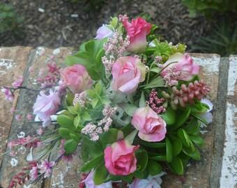Pink Rosebud Bridal Bouquet